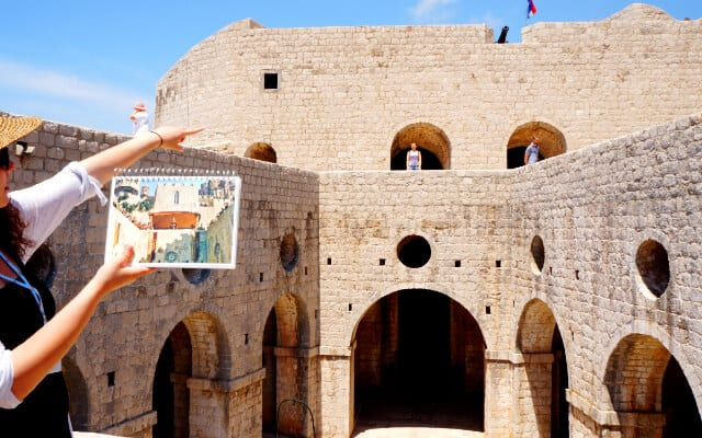 Courtyard of domed archways mark the start of the Game of Thrones Tour