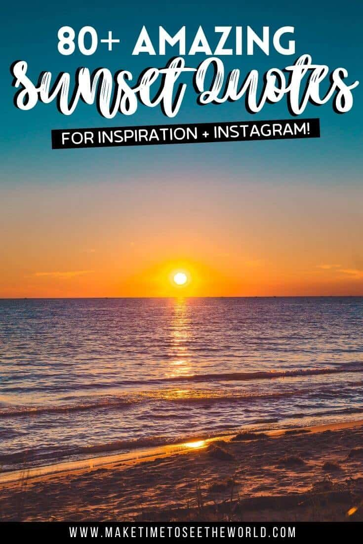 Best Sunset Captions and Sunset Quotes for Instagram