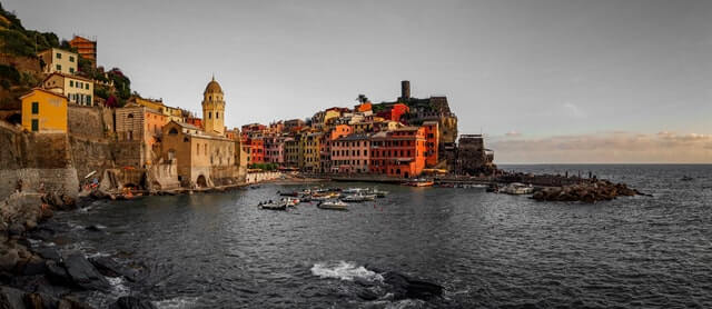 Vernazza village in Cinque Terre Italy