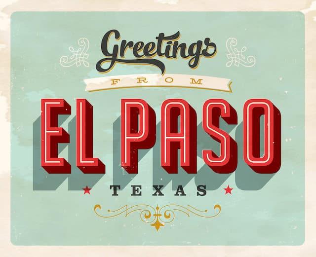 Greetings from El Paso Texas Postcard