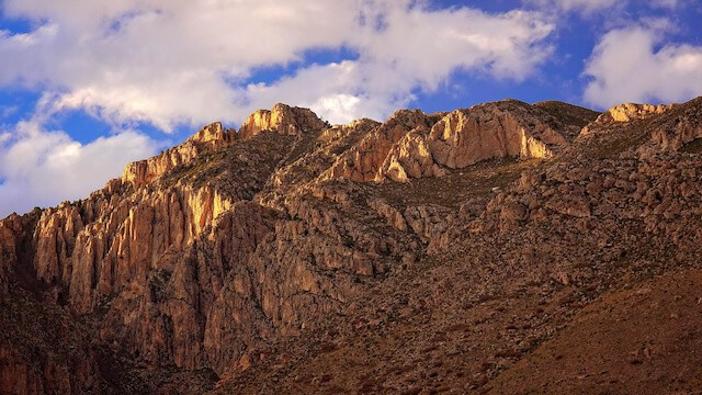 Towering cliffs in Guadalupe Mountains National Park