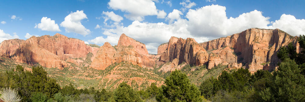 Kolob panorama with Northgate Peaks in the background