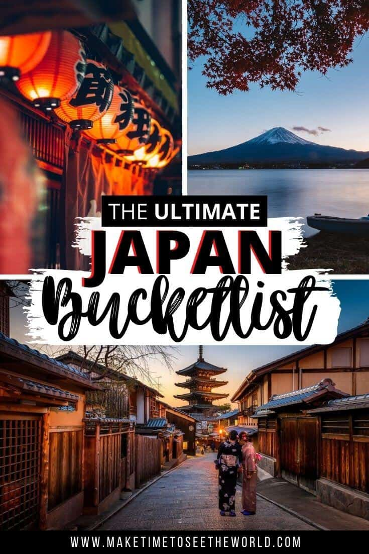 Best Things to do in Japan - Japan Bucket List pin image