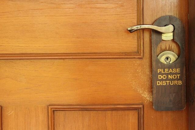 Do Not Distrub Sign on Wooden Door