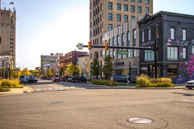 Downtown Jackson street scene