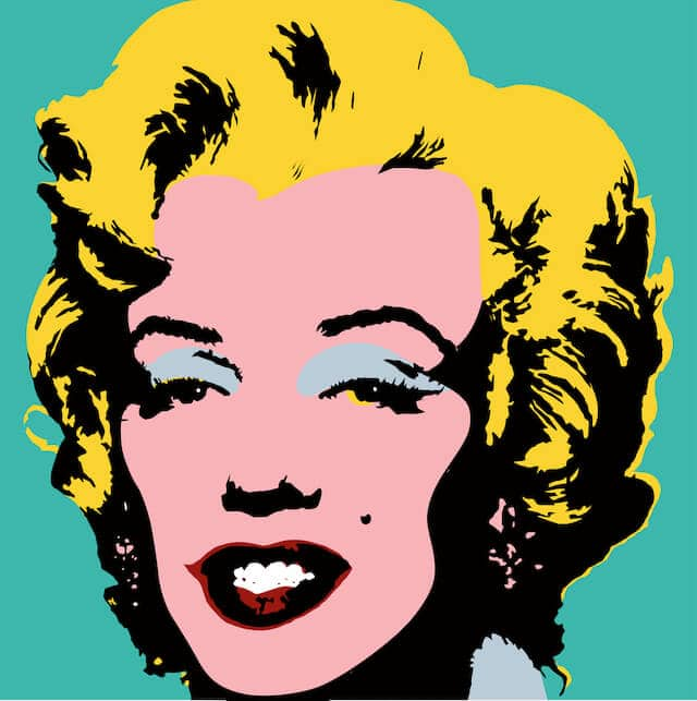Marilyn Munroe pop art image by Andy Warhol