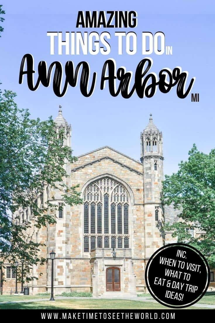 Things to do in Ann Arbor MI pin image
