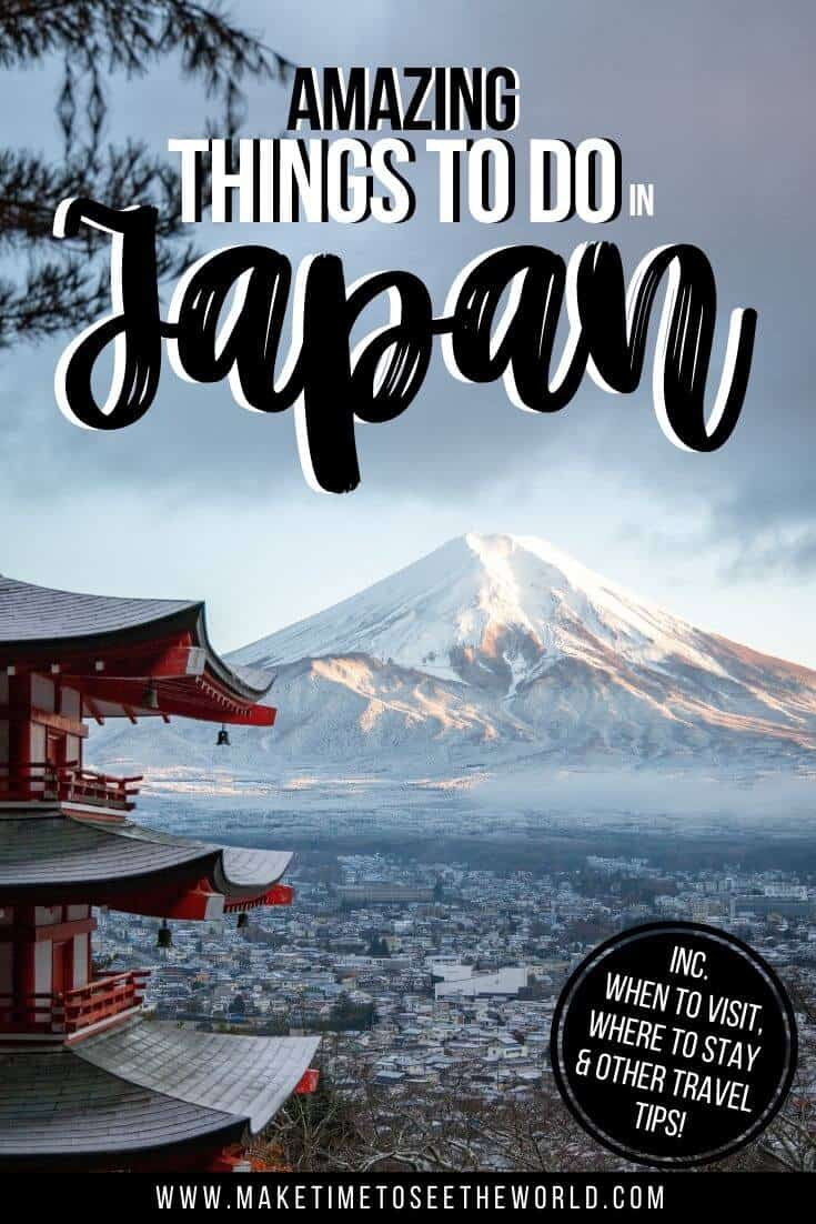 Things to do in Japan pin image