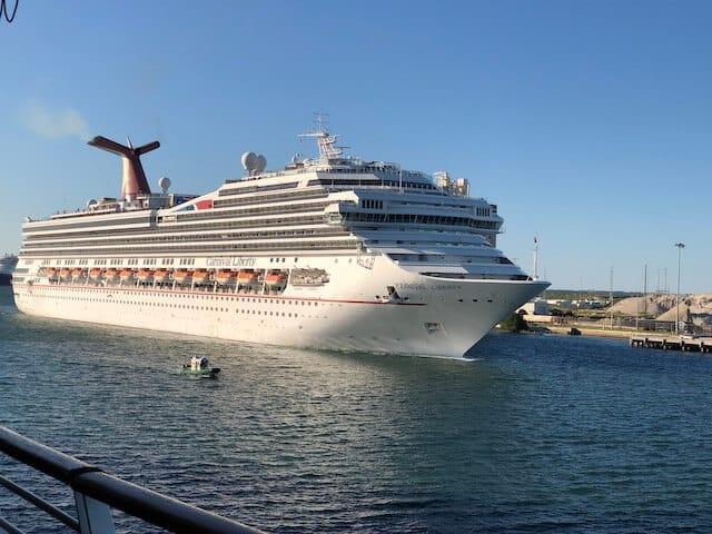 Carnival Liberty Cruise ship docked in port