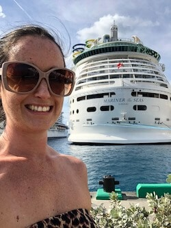 Jenni Fielding with Mariner of the Seas