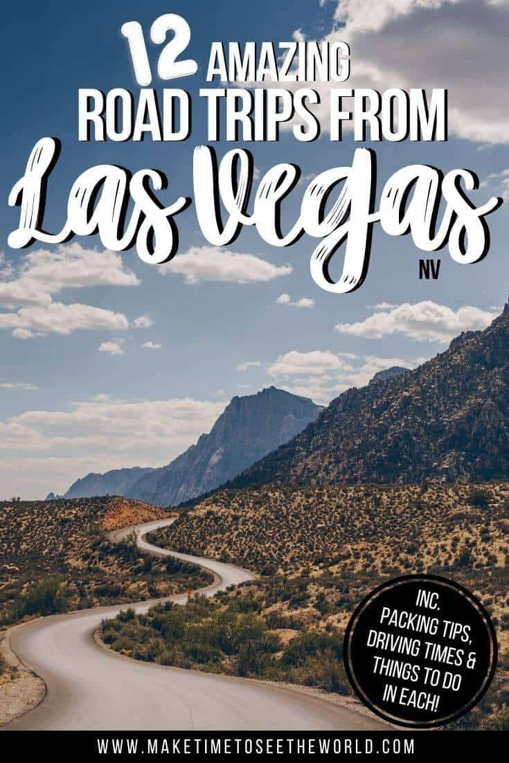 Best Road Trips from Las Vegas pin image