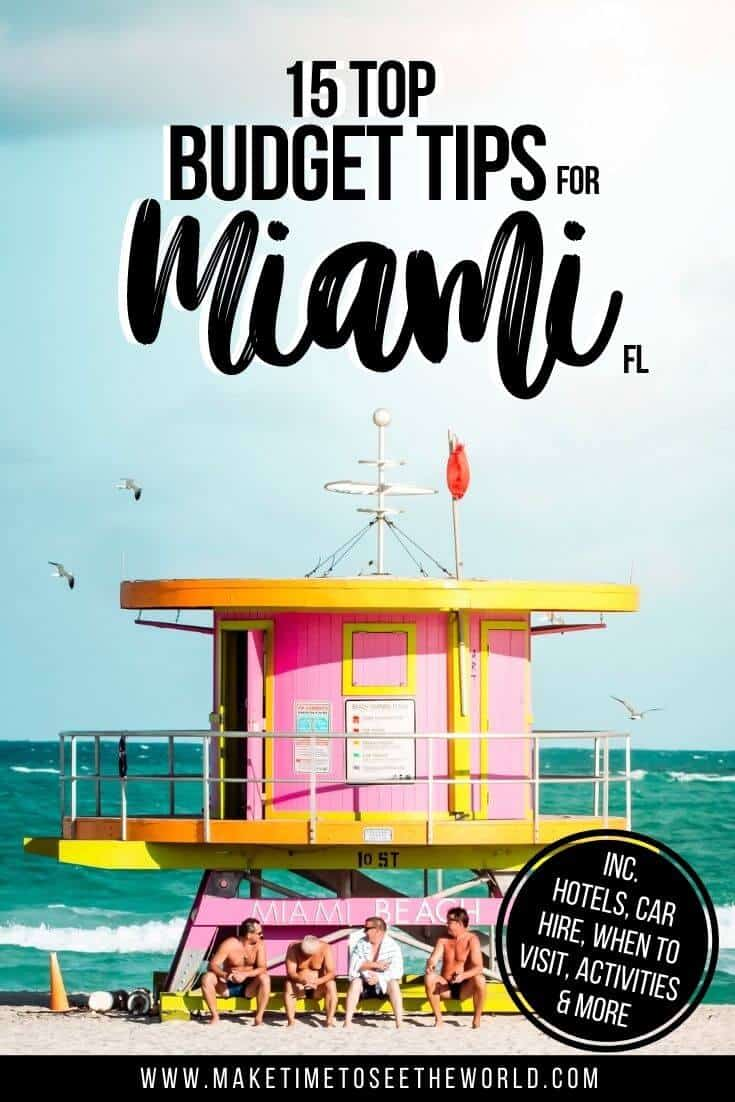 Budget Tips for Miami Pin Image