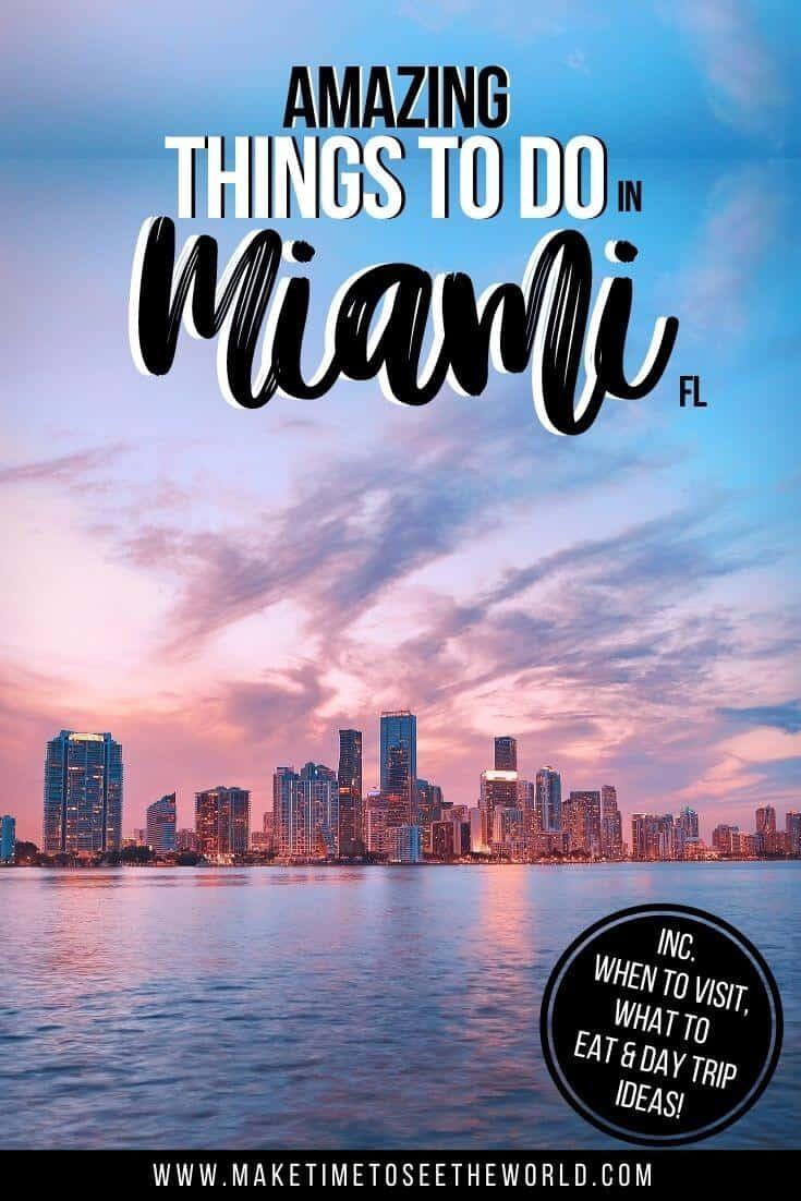 Fun Things to do in Miami FL Pin Image