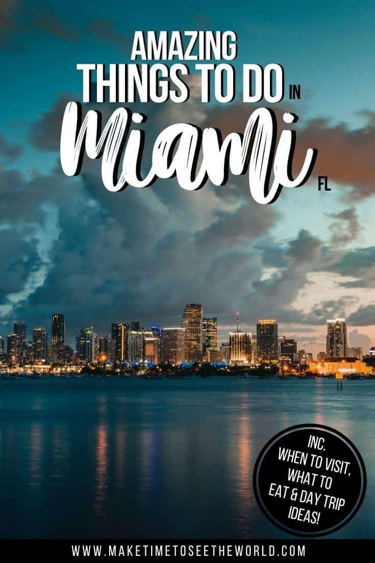 Fun Things to do in Miami Florida Pin Image