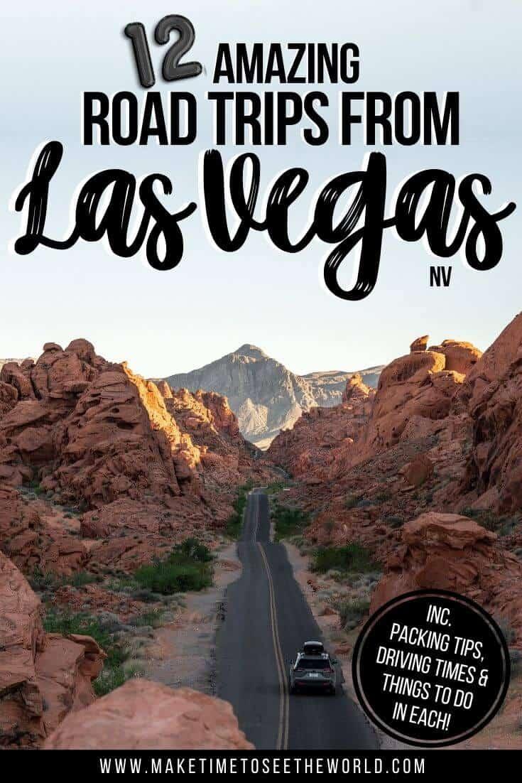 Incredible Road Trips from Las Vegas pin image