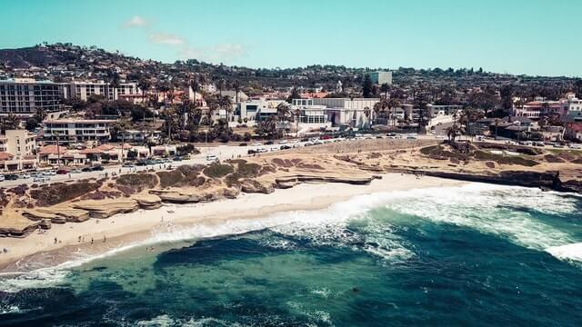 La Jolla Beach in San Diego