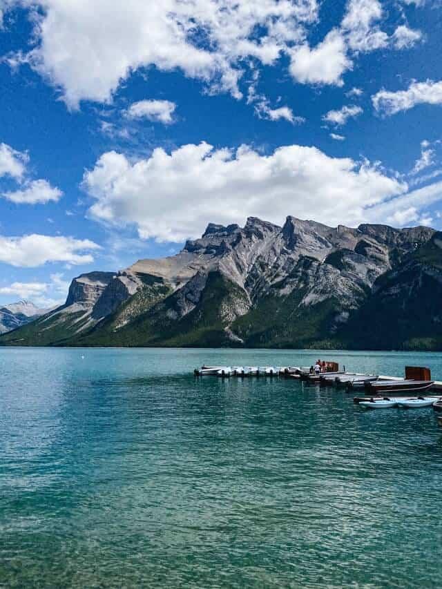 Lake Minnewanka in Banff in Summer