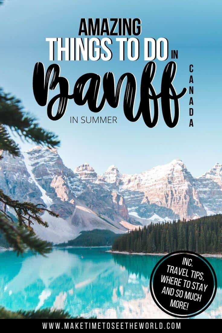 Top Things to do in Banff in Summer Pin Image