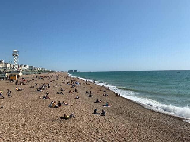 Brighton Beach in the UK