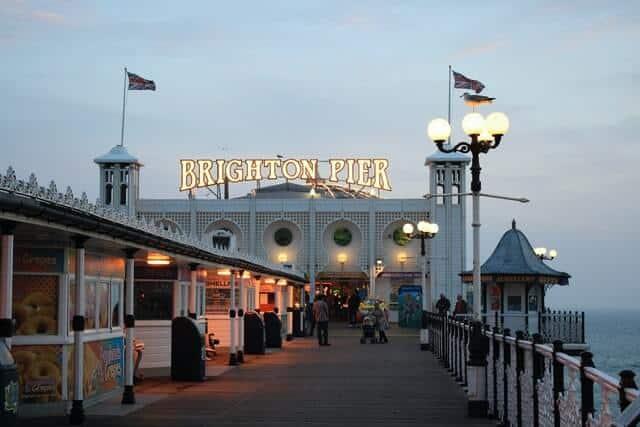 Brighton Pier Building and Boardwalk