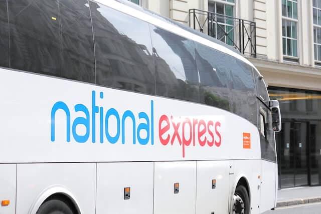 White National Express Coach