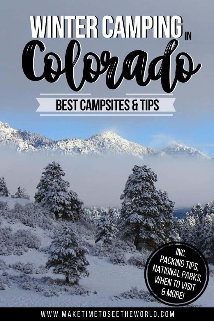 Best Winter Camping Colorado pin image
