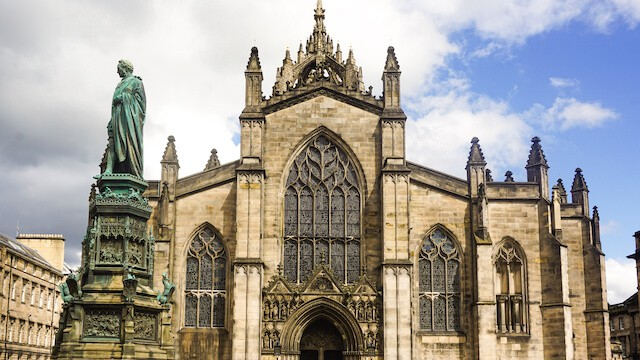 Facade of St Giles Cathedral