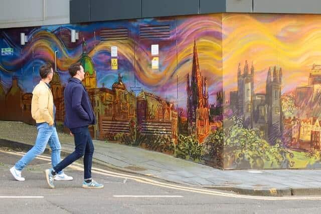 Capita Mural on Morrison Street Edinburgh