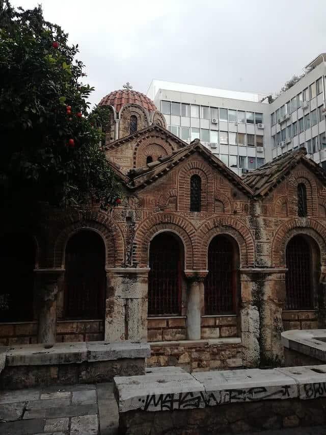 Ancient Kapnikarea Church in Athens
