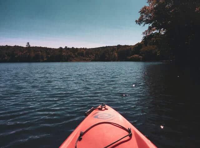 RedKayak on Elkhart Lake Wisconsin
