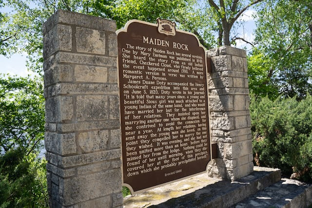Maiden Rock Historical Marker Sign