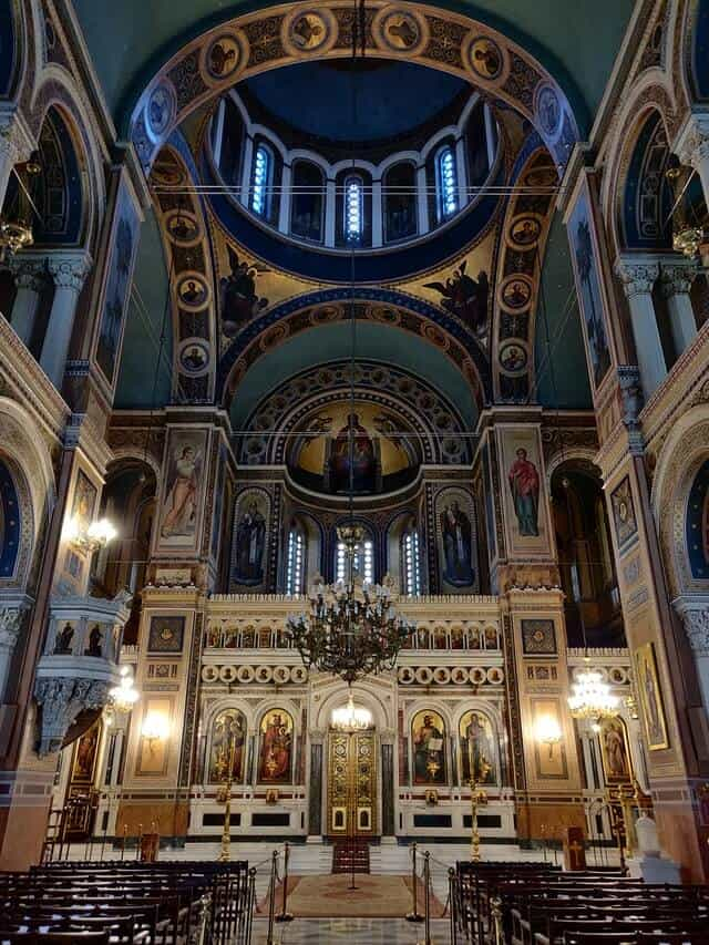 Inside the Metropolitan Cathedral of Athens