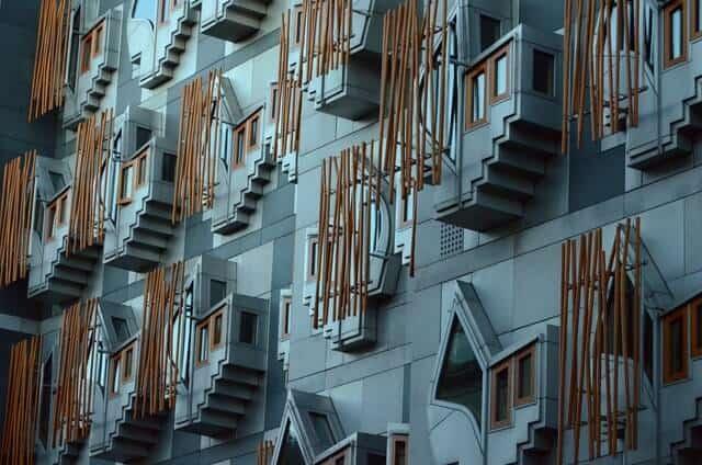 Scottish Parliament building exterior