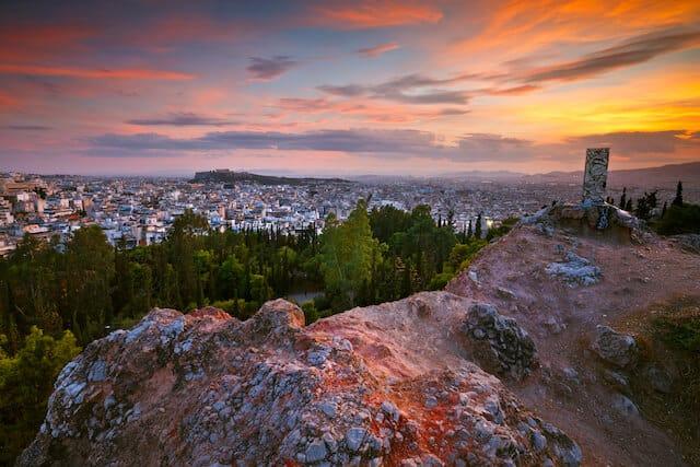Strefi Hill, Athens at sunset
