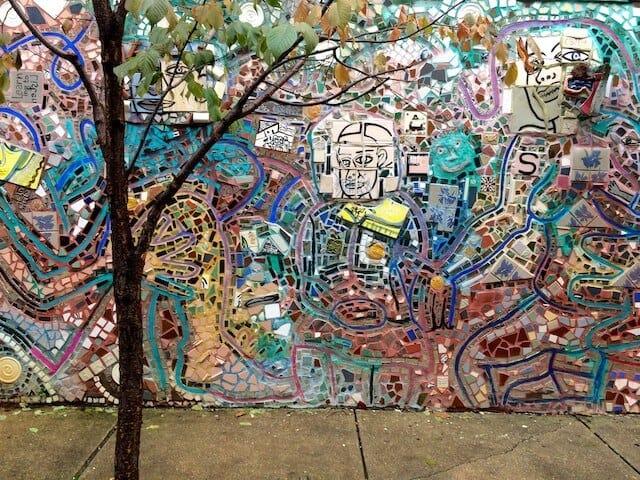 A large Isaiah Zagar mosaic