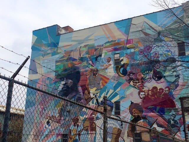 Large street art mural in Philadelphia