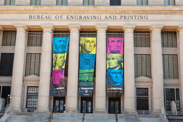 Exterior of the Bureau of Engraving and Printing