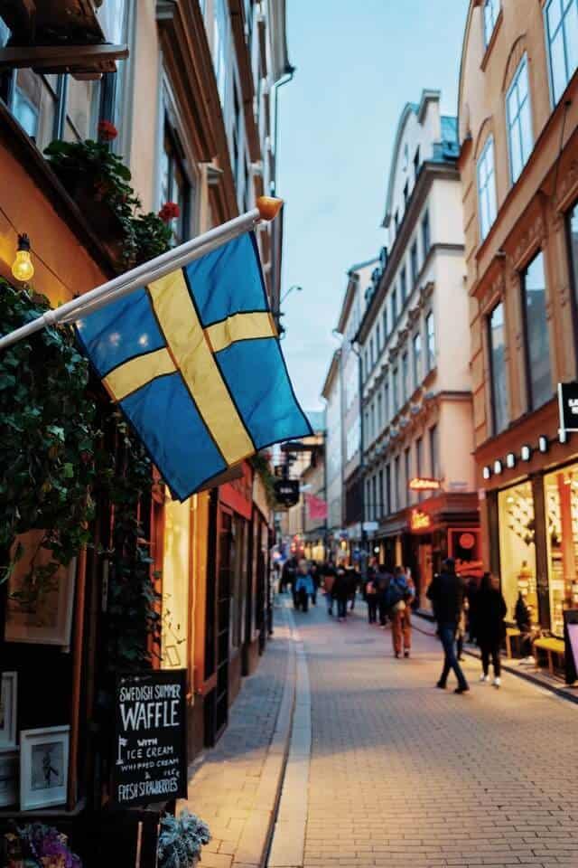 Street Scene in Stockholm Sweden