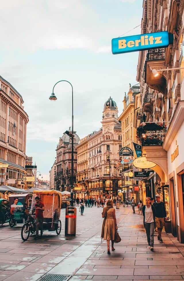 Street Scene in Vienna Austria